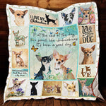 I Love My Chihuahua Quilt Blanket, Chihuahua Gifts, Chihuahua Throw, Gift for Chihuahua Owners- Pet Gifts-Moon & Back