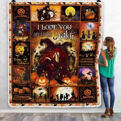 I Love You My Little Witch Halloween Blanket-Moon & Back
