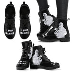 I'm A Marine Mom Women's Boot, Gift For Marines Moms-Moon & Back
