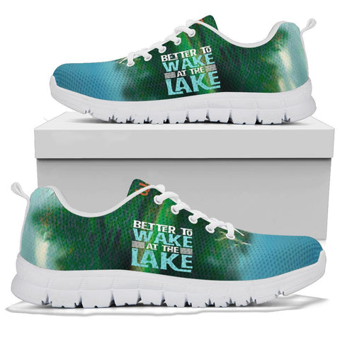 Lake Life Sneaker, Better To Wake At The Lake Shoes-Moon & Back