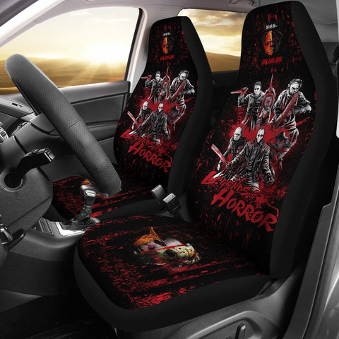 Legends Of Horror Car Seat Cover Set, Horror Gifts-Moon & Back