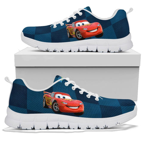 Lightining Mc Queen 95 Sneakers, Cartoon Lovers Gift-Moon & Back