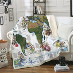 Lovely 3D Diversity of Life Printed Sherpa Blanket-Moon & Back-BZKH1455-Queen 60INCHx80INCH-Moon & Back