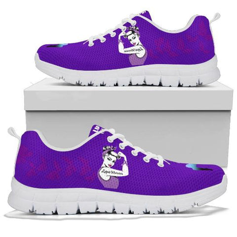 Lupus Warrior Sneaker, Gift For Lupus Warriors-Moon & Back