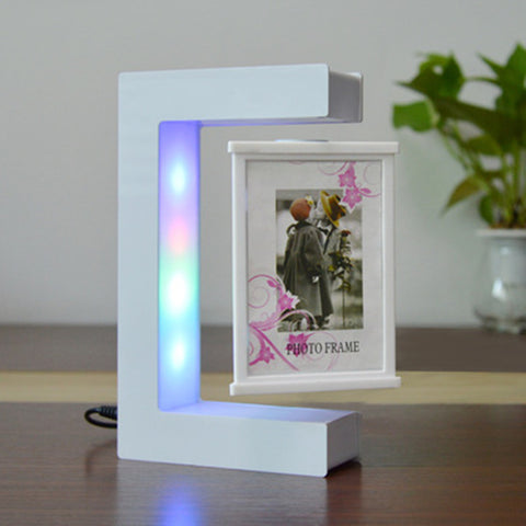 Magnetic Creative Levitating Photo Frame With Led Lights-Moon & Back
