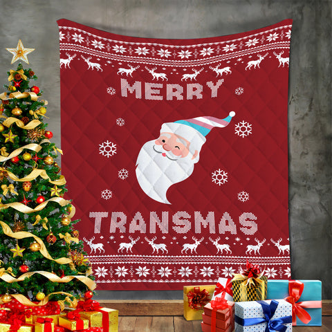 Marry Transmas Christmas Blanket, LGBT Xmas Gifts-Moon & Back