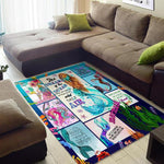 Mermaid Pattern Rug, Gift For Mermaid Lovers-Moon & Back