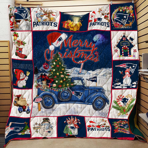 Merry Christmas Patriots Blanket, Gift For Patriots Fans-Moon & Back