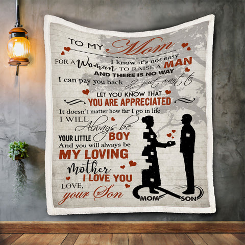 Son to Mom Blanket, Blanket for Mom, Blankets from Son to Mom-Moon & Back