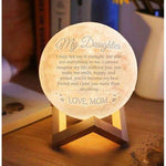 Mom to Daughter Custom Moon Lamp | I Can't Imagine My Life (15 cm)-Moon & Back-Moon & Back