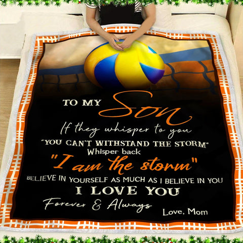 Mom to Son Special Birthday Celebration Blanket- Gift for Son- Grandson-Moon & Back