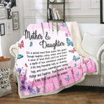 Mother and Daughter, Blanket for Mom, Blankets for Mothers, Mothers Day Gift, Floral Blanket for Mom - DG8443-Moon & Back