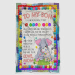 Mother and Son Blanket, From Mom to Son Blanket, Blanket for Son, My Dear Son - Gift from Mother to Son - EC1002-Moon & Back