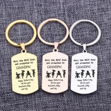 Only The Best Dads Are Promoted To Grandpa Specialised Designed Signature Customized Keychain Father Best Grandfather Gift Charm-Moon & Back-gold-Moon & Back