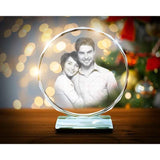 Personalized 3D Photo Engraved Crystal-Moon & Back-Moon & Back