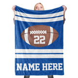 Personalized Blanket, Football Blanket, Sports Blanket, Valentine's Day, Anniversary-Moon & Back