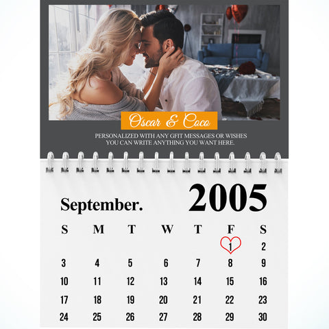 Personalized Couple Anniversary Blanket - Calendar-Moon & Back-Youth 60in x 36in (152cm x 91cm)-Moon & Back
