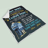 Personalized Couple Anniversary Blanket -To My Wife You Are My One And Only-Moon & Back-Adult 70X44Inch(178x112cm)-Moon & Back