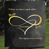 Personalized Couple Blanket - When We Have Each Other-Moon & Back-Youth 60in x 36in (152cm x 91cm)-Moon & Back