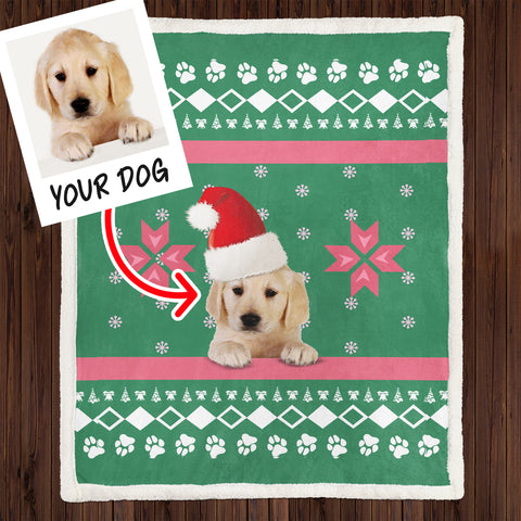 Personalized Dog Lovers Christmas Blanket, Dog Lovers Gift-Moon & Back
