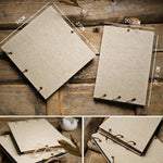 Personalized Engraved Wooden Wedding Guest Book-Moon & Back-25 sheets kraft paper-10 inch 26cm x 25cm-Moon & Back
