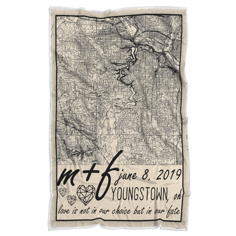 "Personalized Blanket - Custom Map for Couples-Sherpa Blanket-wc-fulfillment-Adult 70""x44""-Moon & Back"