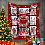 Personalized Family Photos Merry Christmas Blanket, Gift For Xmas-Moon & Back