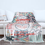Personalized Grandma Blanket, Gift for Grandmother, Gift for Nana, I'm Proud Grandma Blanket-Moon & Back