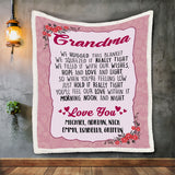 Personalized Grandma Pink Blanket, Nana Blanket, Gift For Grandmother-Moon & Back