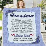 Personalized Grandma Sherpa Blanket- Nana Blanket, Gift for Nana, I Am Proud Grandma Blanket - DG7821-Moon & Back