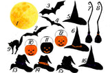 Personalized Halloween Canvas,Halloween Gifts, Witch And Pumpkins, Custom Gift For Best Friend and Family-ECSET2005-Moon & Back
