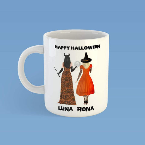 Personalized Halloween Mug,Halloween Gift,Halloween Witch Mug,Custom Gift For Best Friend- ECSET2027-Moon & Back