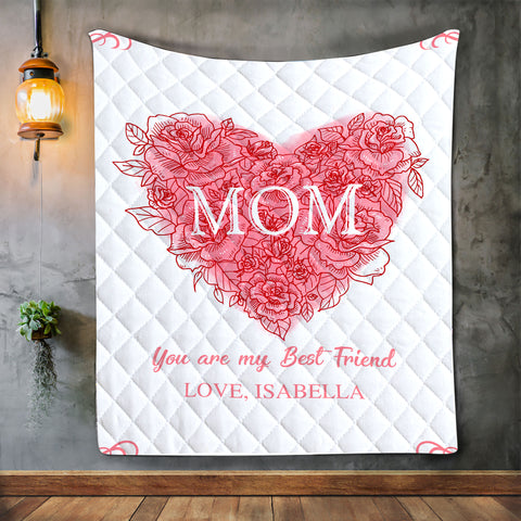 Personalized Blanket For Mom, Mother's Day Gift, Daughter To Mom-Moon & Back