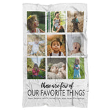 "Personalized Photo Blankets - 9 Photos-Sherpa Blanket-wc-fulfillment-Adult 70""x44""-Moon & Back"
