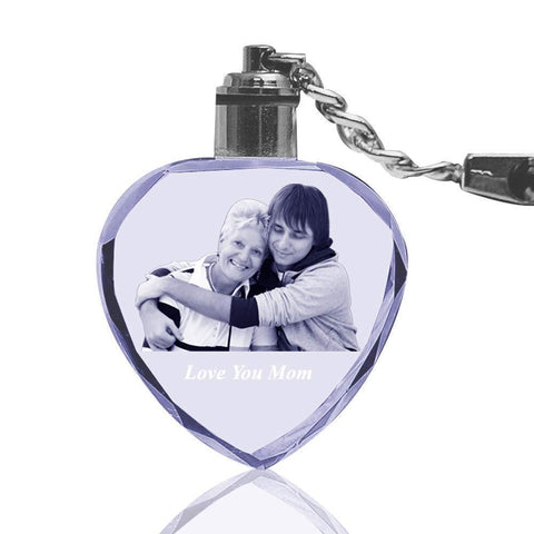 Photo Crystal Heart Keychain - LIMITED TIME DEAL-Moon & Back-Keychain + Gift Box-Moon & Back