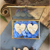Personalized Ring Carrier Jewelry Box-Moon & Back-D-Moon & Back