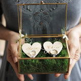 Personalized Ring Carrier Jewelry Box-Moon & Back-A-Moon & Back