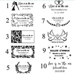 Personalized Wedding Bubble Tube Labels-Moon & Back-45 stickers-Moon & Back