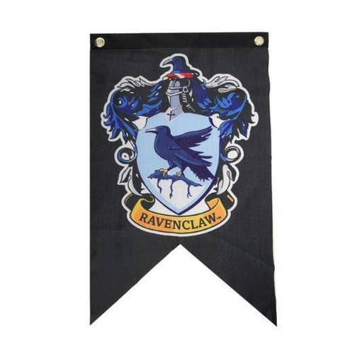 Ravenclaw Flag Banner-Moon & Back-11.8x19.6 Inches (30x50 cm)-Moon & Back