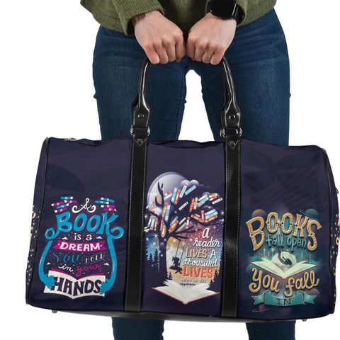 Reading Book Travel Bag, Gift For Book Lovers-Moon & Back