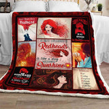 Redheads Blanket,A Day Without Redheads Is Like A Day Without Sunshine Blanket -FA3354-Moon & Back
