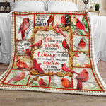 Serenity Prayer Inspirational Red Bird Peace Blanket - Religious Gift for Anniversary-Lord- Christ-Moon & Back