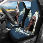 Shark Design Car Seat Cover Auto/SUV Seat Protect Sheet Vehicle Front Chair Cover-Moon & Back