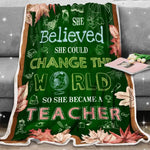 Special Teacher She Became a Teacher- Valentine's Day - Coworker - Friends - Family, Occupation-Jobs Gifts, Gift for Teacher-Moon & Back