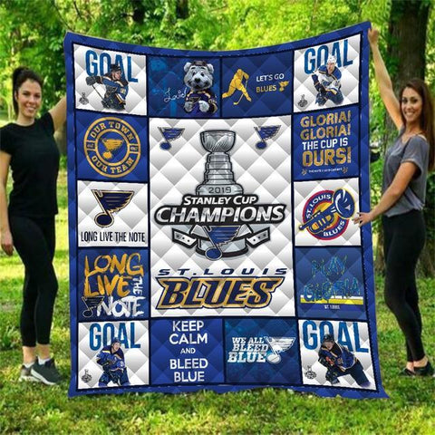 St. Louis Blues Warm Quilt Blanket-Moon & Back-70.8x78.7 Inches-7-Moon & Back
