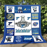 St. Louis Blues Warm Quilt Blanket - DG6027-Moon & Back