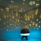 Starry Rotating Night LED Light Projector-nasagiftshop-Changeable-White-China-Moon & Back