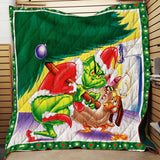 The Grinch Christmas Movie Blanket, The Grinch Lovers-Moon & Back