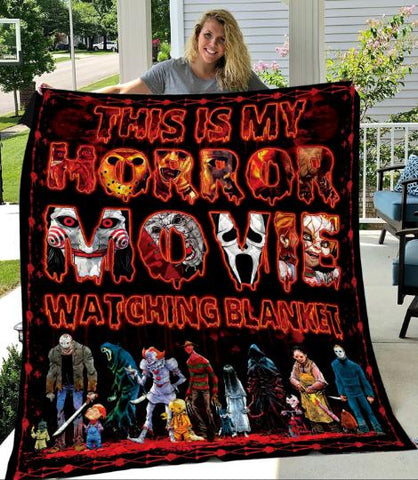 This is My Horror Movie Watching Blanket, Halloween Gift-Moon & Back