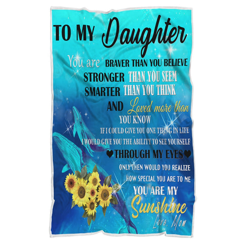 To My Daughter, You Are My Sunshine Blanket-Moon & Back